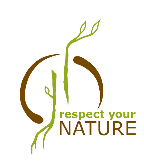 Logo respect your nature klein bunt rgb